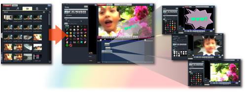 自動で動画作成、詳細に作り込み!