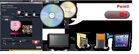 DVD / ブルーレイディスク書き出し画面